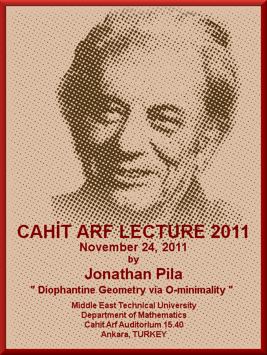 Cahit Arf Lecture 2011